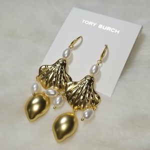 Tory Burch shell drop earrings